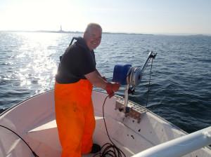 Hobbyfiskeren i aksjon.